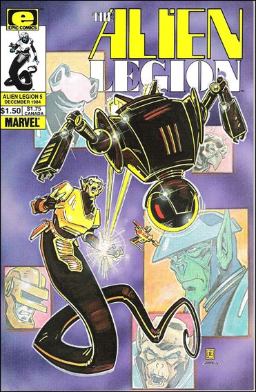 Alien Legion (1984) 5-A by Epic