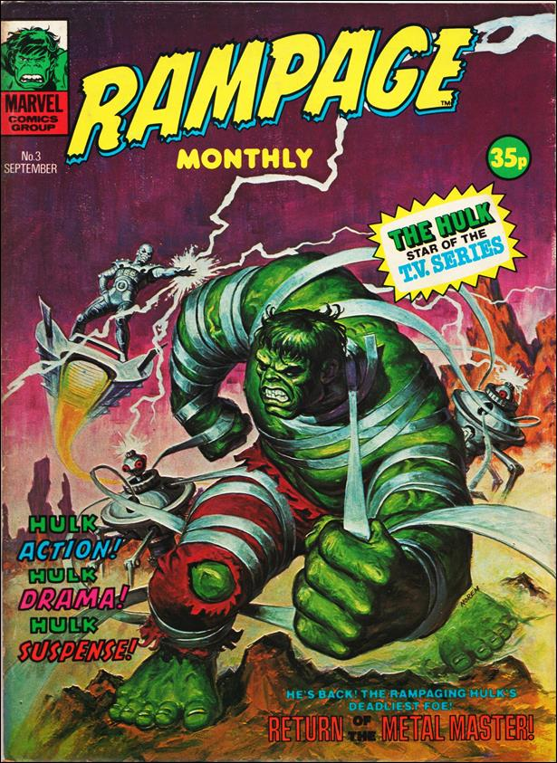 Rampage Monthly (UK) 3-A by Marvel UK