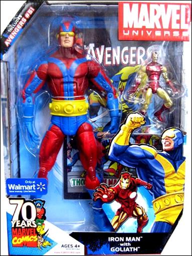 Marvel Universe: Gigantic Battles (2-Packs) Iron Man with Goliath (Red and Blue Costume) by Hasbro