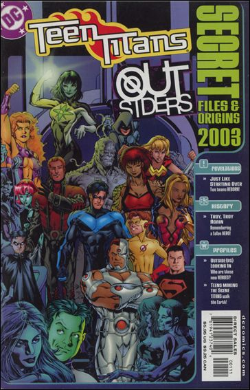 Teen Titans/Outsiders: Secret Files and Origins 2003-A by DC
