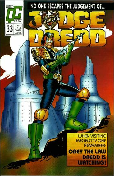 Judge Dredd (1986) 33-A by Quality Comics