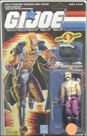 "G.I. Joe: A Real American Hero 3 3/4"" Basic Action Figures Dr. Mindbender (Master of Mind Control) by Hasbro"
