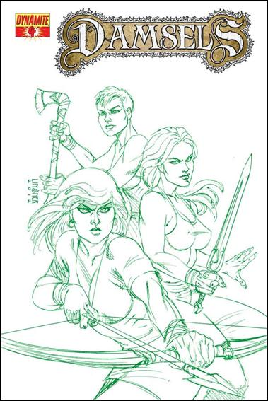 Damsels 4-E by Dynamite Entertainment