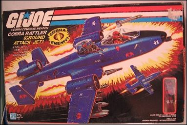 "G.I. Joe: A Real American Hero 3 3/4"" Basic Vehicles and Playsets Rattler (Ground Attack Jet) by Hasbro"