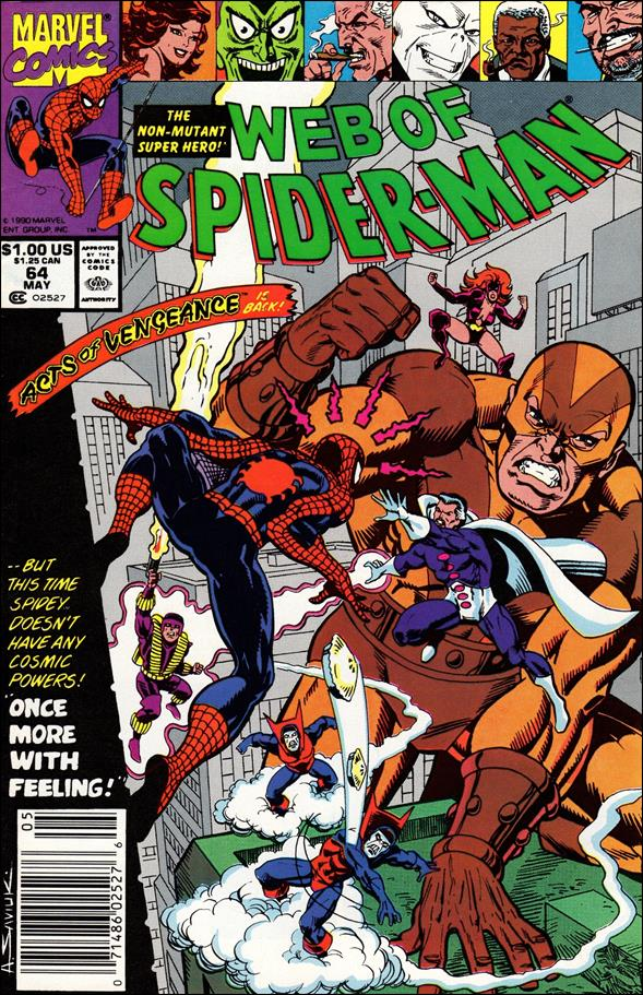 Web of Spider-Man (1985) 64-A by Marvel