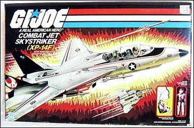 "G.I. Joe: A Real American Hero 3 3/4"" Basic Vehicles and Playsets Skystriker (XP-14F Combat Jet) by Hasbro"