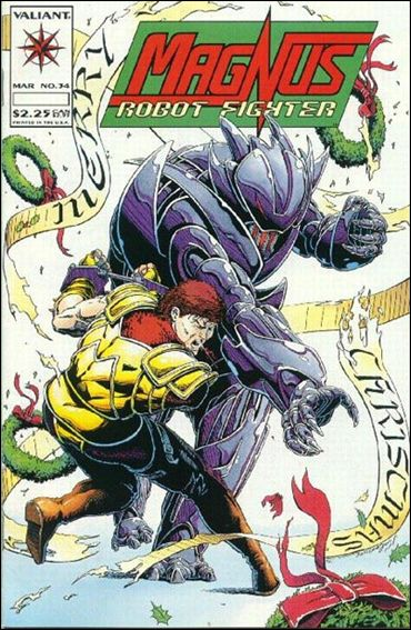 Magnus Robot Fighter (1991) 34-A by Valiant