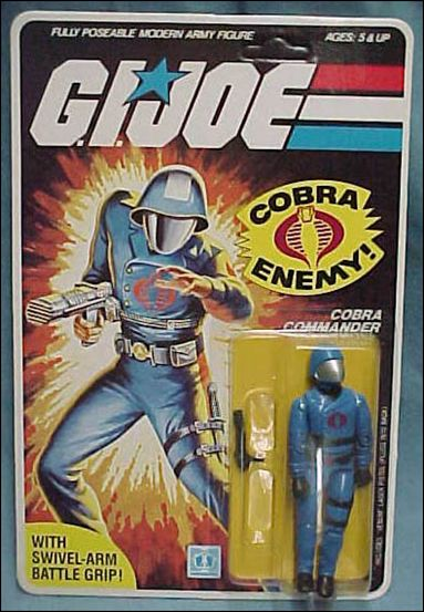 G.I. Joe: A Real American Hero 3 3/4&quot; Basic Action Figures Cobra Commander (Helmet) -Swivel-Arm by Hasbro