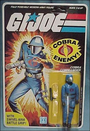 "G.I. Joe: A Real American Hero 3 3/4"" Basic Action Figures Cobra Commander (Helmet) -Swivel-Arm"