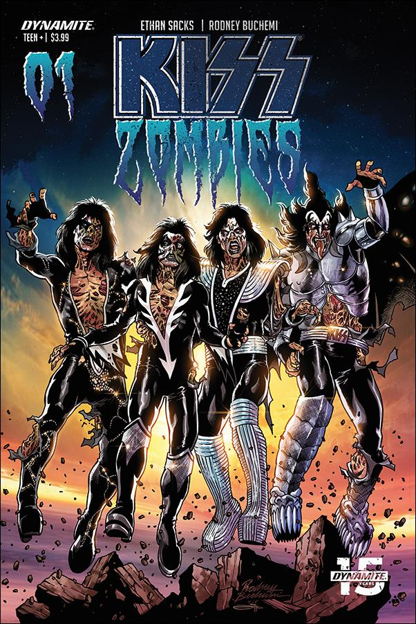 Kiss Zombies 1-C by Dynamite Entertainment