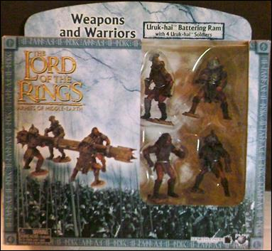 Lord of the Rings Armies of Middle Earth Weapons and Warriors Box Set Uruk-hai Battering Ram with 4 Urak-hai Soldiers by Play-Along