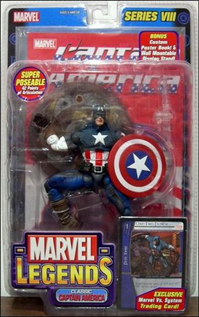Marvel Legends (Series 8) Classic Captain America (Grey Stripe - Wings)