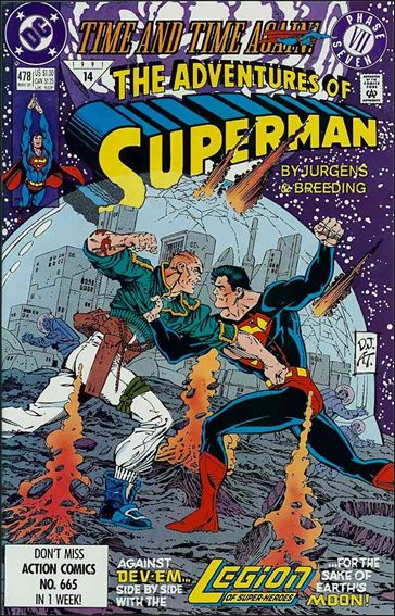 Adventures of Superman (1987) 478-A by DC