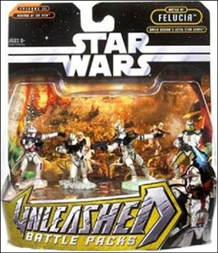 Star Wars: Unleashed Multi-Figure Battle Packs Battle of Felucia- Aayla Secura's 327th Star Corps