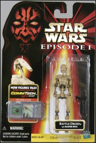 "Star Wars: Episode I 3 3/4"" Basic Action Figures Battle Droid (Dirty) (With Logos) .02 by Hasbro"
