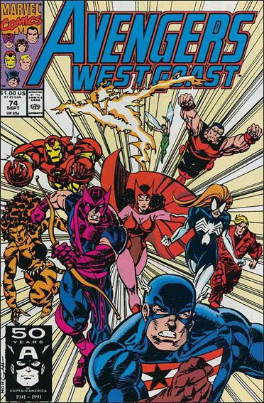 Avengers West Coast 74-A by Marvel