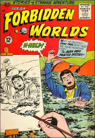 Forbidden Worlds (1951) 108-A by American Comics Group (ACG)