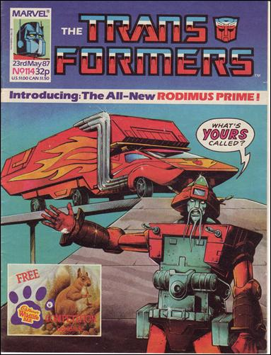 Transformers (UK) 114-A by Marvel UK