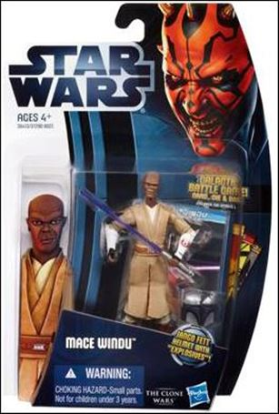 "Star Wars: The Clone Wars Collection 3 3/4"" Figures (2012) Mace Windu"