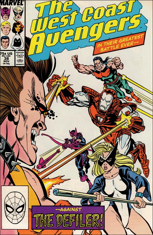 West Coast Avengers (1985) 38-A by Marvel