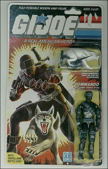 "G.I. Joe: A Real American Hero 3 3/4"" Basic Action Figures Snake-Eyes (Commando) w/  Timber by Hasbro"