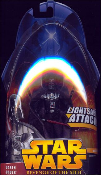 "Star Wars: Revenge of the Sith 3 3/4"" Basic Action Figures Darth Vader (Lightsaber Attack!) by Hasbro"