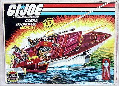 "G.I. Joe: A Real American Hero 3 3/4"" Basic Vehicles and Playsets Cobra Hydrofoil (Moray) by Hasbro"