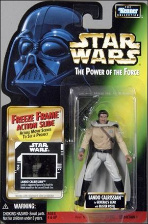"Star Wars: The Power of the Force 2 3 3/4"" Basic Action Figures Lando Calrissian (General) (Sealt-Marie) w/ FF"