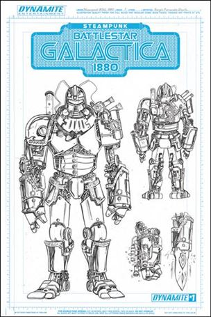 Steampunk Battlestar Galactica: 1880 1-E