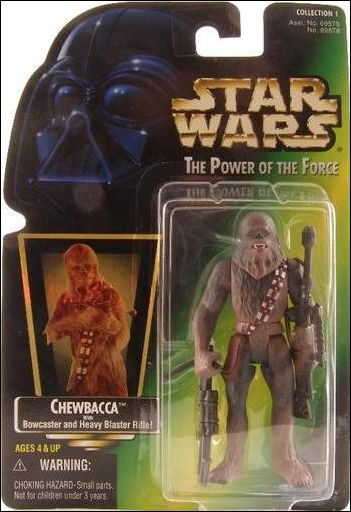 "Star Wars: The Power of the Force 2 3 3/4"" Basic Action Figures Chewbacca (Green Card) (Holofoil Sticker) by Kenner"
