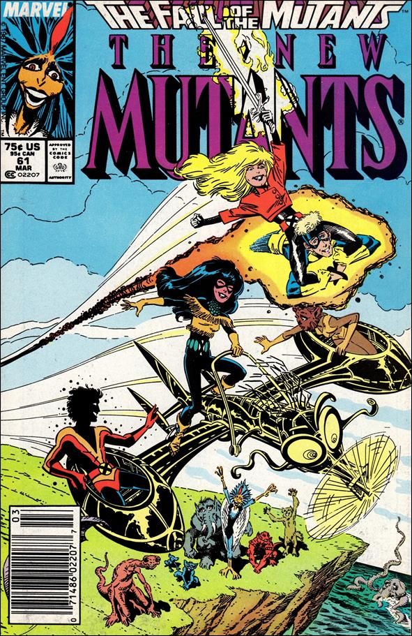 New Mutants (1983) 61-A by Marvel