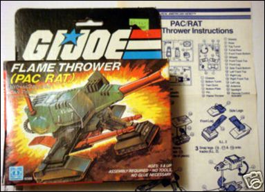 """G.I. Joe: A Real American Hero 3 3/4"""" Basic Vehicles and Playsets Flame Thrower (PAC RAT) by Hasbro"""