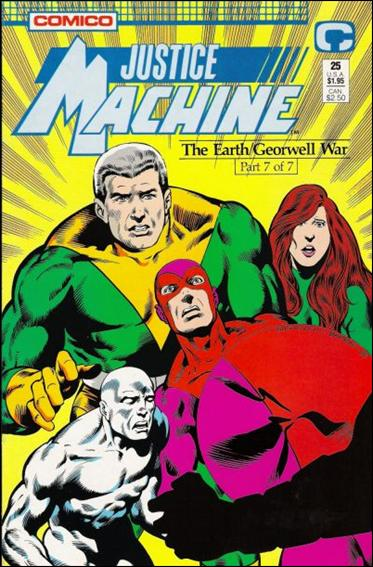 Justice Machine (1987) 25-A by Comico