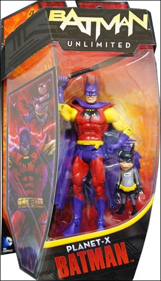 Batman Unlimited Planet-X Batman with Bat-Mite by Mattel