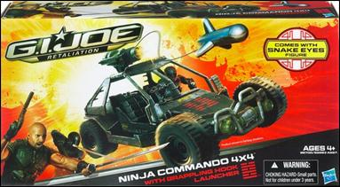 G.I. Joe: Retaliation (Bravo Class Vehicles) Ninja Commando 4x4 with Snake Eyes by Hasbro