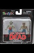 Walking Dead Minimates Guts Zombie and Burned Zombie