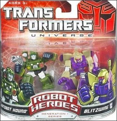 Transformers: Robot Heroes Autobot Hound & Blitzwing by Hasbro
