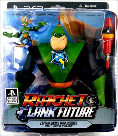 Ratchet and Clank Future (Series 1) Captain Qwark and Scrunch by DC Direct