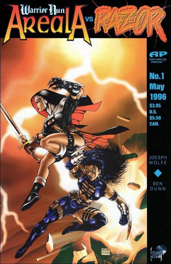 Warrior Nun vs Razor 1-A by Antarctic Press