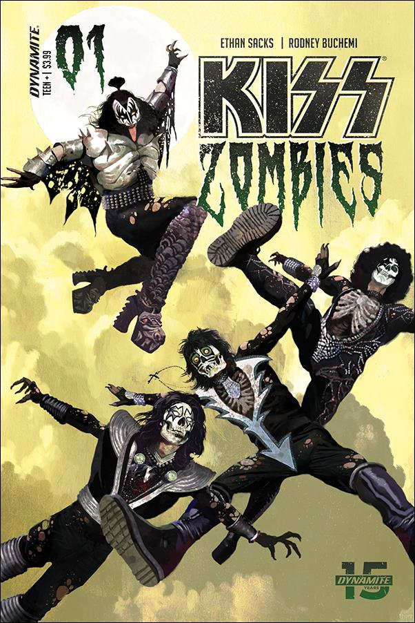 Kiss Zombies 1-A by Dynamite Entertainment