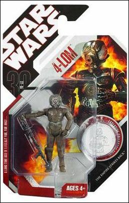 "Star Wars: 30th Anniversary Collection 3 3/4"" Action Figures (2007) 4-LOM w/ Collector Coin by Hasbro"