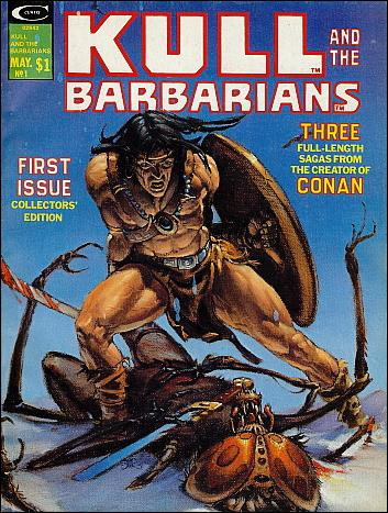 Kull and the Barbarians 1-A by Marvel