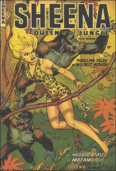 Sheena, Queen of the Jungle (1942) 14-A by Fiction House Magazines