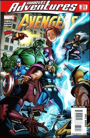 Marvel Adventures The Avengers 31-A by Marvel