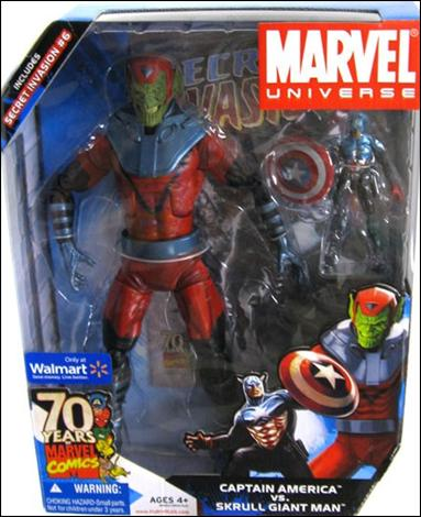 Marvel Universe: Gigantic Battles (2-Packs) Captain America vs Skrulll Giant Man by Hasbro