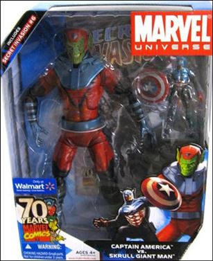 Marvel Universe: Gigantic Battles (2-Packs) Captain America vs Skrulll Giant Man