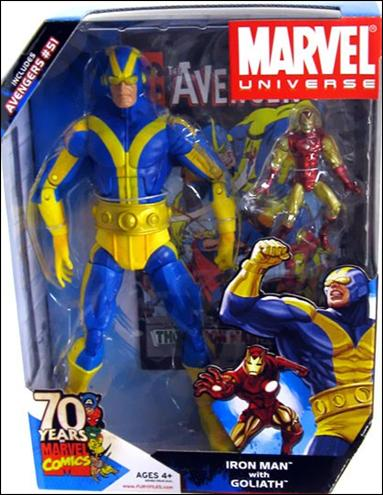Marvel Universe: Gigantic Battles (2-Packs) Iron Man with Goliath (Blue and Yellow Costume) by Hasbro