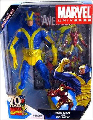Marvel Universe: Gigantic Battles (2-Packs) Iron Man with Goliath (Blue and Yellow Costume)