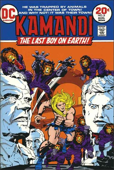 Kamandi, the Last Boy on Earth 8-A by DC