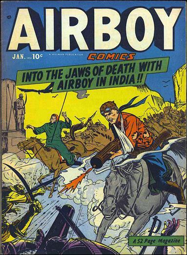 Airboy Comics (1950) 12-A by Hillman